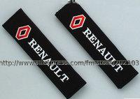 free shipping 1pair (1pair=2pcs)  Renault seat belt cover retaining straps sets shoulder pad
