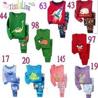Hot selling Brand New Baby Girls and boys 2pcs Long Sleeved Pajams Suits Kids Cute Carton Sleepwear Children Pyjamas Kids Cloth