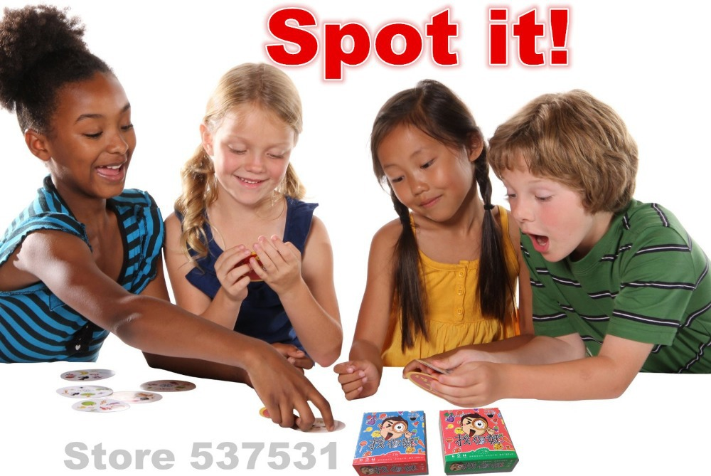 Holiday Toy Fast-Paced Observation Game Let's Spot It Find and Match Card Game Party Game Popular Board Game(China (Mainland))