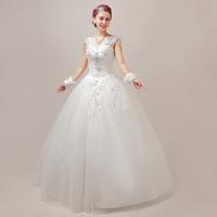 Free shipping 2014 new Princess bride wedding dress bow slit neckline vintage bag wedding dress racerback lace wedding dress