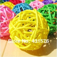 Free Shipping 60 Pcs/Lot  3cm Holiday Festive Wedding Supplies Sepak Takraw  Round Rattan Ball For  Valentine'S Day