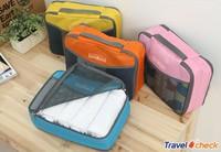 travel check Free shipping Clothes storage bag Nylon brand travel case organizer Wash bag travel mate waterproof nylon bag