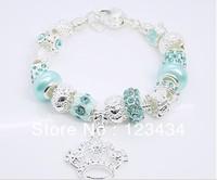 Wholesale 925 sterling silver charm bracelet for women Chamilia bead bracelet jewelry, free shipping