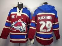 2014 Cheap Colorado Avalanche #29 Nathan MacKinnon Burgundy w/Blue Hockey Hoodies Jersey Ice Winter Old Time Hockey Hoodie