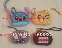 novelty items with zipper kawaii bag plush blue stitch coin purse small round money pouch for girl women boy kids party favor