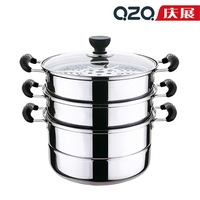 double layer steamer soup pot thickening stainless steel cookware electromagnetic furnace