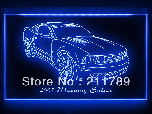 AC095 B 2007 Mustang Saleen Ford LED Light Sign(China (Mainland))