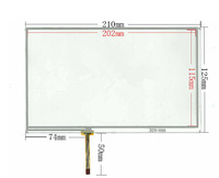 original New 9 inch LCD touch panel 210mm*125mm digitizer For Tablet LCD touch screen,Industrial equipment touch screen