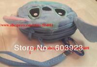 Drop shipping 20 pcs /lot Cute Lilo Stitch Plush Coin Purse & Wallet Pouch Bag Case Pendant Chain Purse Bag Case Pouch hangbag