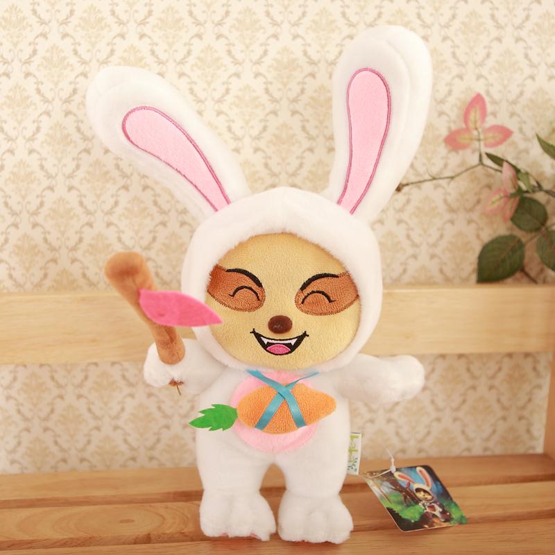 "Drop shipment NEW LOL Cosplay Temmo/ Teemo 13"" Plush stuffed toys Easter bunny(China (Mainland))"