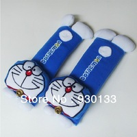 2014 NEW Cute cartoon Doraemon car seat belt shoulder padding 2pcs/pair (the price is for a pair) Free Shipping