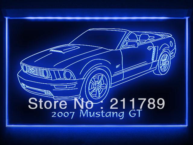 AC093 B 2007 Mustang GT Convertible LED Light Sign(China (Mainland))