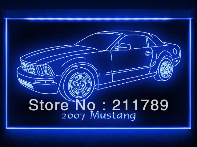 AC094 B 2007 Mustang Convertible LED Light Sign(China (Mainland))