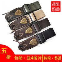 Folk wood guitar soldier electric guitar suspenders broadened personalized canvas genuine leather guitar belt