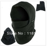 Hot Winter Outdoor Thermal Warm 6 in 1 Balaclava Hood Police Swat Skiing Cap Fleece Ski Bike Scarf Wind Stopper Ski Mask Hats