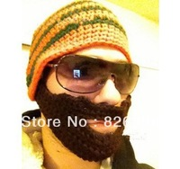 Hot Sale Fashion Handmade Knit Crochet Beard hat Beanie Mustache Warmer Ski hat