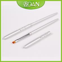 4 BQAN Oblique Nylon Hair Silver Metal Handle Brush UV Nail Gel Brush 10PCS LOT