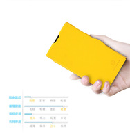 Hot Yellow color Nillkin Fresh PU Flip Leather Cover Hard Back Case For Nokia Lumia EOS 1020 + Screen Guard Film protector