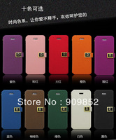 10 Colors Deluxe D Word Buckle Wallet Leather Case For Apple iphone 5 5S ,10pcs/lot  Free Shipping