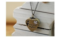 10pcs/lot 2014 fashion korean type heart-shaped necklace personality watch girls watch women watch