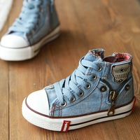 Hot Sale New Size25-37 Children Shoes Kids Canvas Sneakers Boys Flats Girls Boots denim jeans 660 sports 2014 Factory Direct