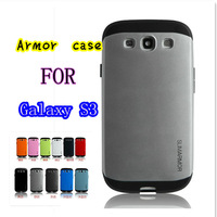 20pcs  Slim Armour Armor SPIGEN SGP HYBRID TPU + PC Hard Cover Case for Samsung Galaxy S3 SIII I9300 9300  11Colors