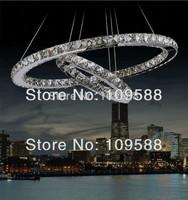 Free shipping Modern crystal chandelier lighting LED Pendant lamp  (2 ring 40cm*20cm)