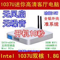 New Thin Client Mini Desktop PC, Intel Celeron 1037U Dual Core, 2GB RAM, 8GB SSD, WiFi, 1080P HDMI, Metal Case, Fanless