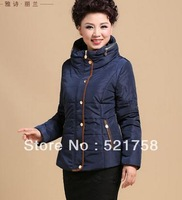2014 women's winter wadded jacket mother clothing cotton-padded jacket middle-age women loose plus size thickening