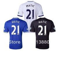 MATIC JERSEY 13/14 Chelsea jersey soccer home Blue AWAY White Black 3RD top 3a+++ Thai Quality Free Shipping