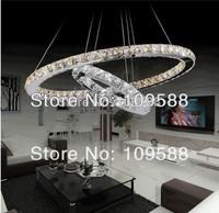 Hot Modern Crystal Chandelier Lighting LED Pendant lamp(2 ring 50cm*30cm)+Free shipping
