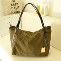 2014 autumn and winter nubuck leather women's handbag fashion shoulder big bags brief  free shipping