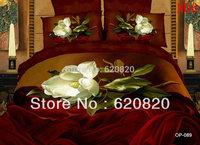 DHL Oil Printed 3D visual bedding set 100% Cotton Queen Sheets Bedding Set 4 Pcs Bedsheet Sets Duvet Cover PillowCase Bed Sheet