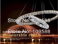 Hot Modern Crystal Chandelier Lighting LED Pendant lamp(2 ring 60cm*40cm)+Free shipping