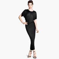Free Shipping Belt long design asymmetrical gloss midsweet slim knitted elastic irregular ABS one-piece dress  Hot item