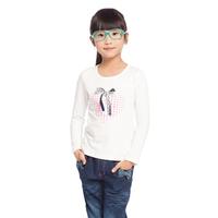 Free Shipping Kids Spring Bows Heart Long Shirt for Girls CuteTops K5125
