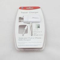 1 piece/lot EU Travel Wall Charger For Apple iPhone 5/5s/iPad mini,Free Shipping