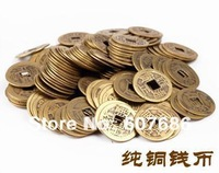 Wholesale 600 Pieces Chinese Antique Coins 22mm Bronze Ancient Coins Old Coin of China Asian Party Supplies Decoration Free Ship