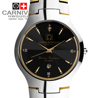 new 2014 fashion men quartz watch carnival tungsten full steel calendar waterproof casual mens watch male clock