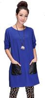 Free Shipping!  2014 Women Fashion Slim Big Plus size Casual Dress,Female Autumn Loose Cool  Dress L XL XXL XXXL 4XL