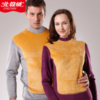 2013 autumn female thermal underwear turtleneck cashmere thickening lovers golden flower thermal underwear
