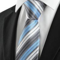 Classic Striped Blue Black JACQUARD Men's Tie Necktie Formal Business Gift GRAVATAS MAN TIES MICROFIBER CRAVAT FREESHIPPING