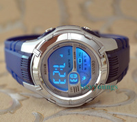 Ohsen Mens Boy Dark Blue Strap Digital 7 color Funny Changable Light Sport Wrist Watches  Watch Gift 0923- Blue