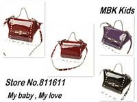 2014 New Brand Women handbag Rivet Designers Kids Bag Children's Shoulder Bag Lady's Mini Bags Girl's Handbags Baby's Tote