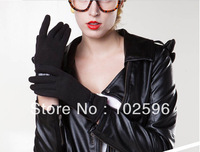 Free Shipping New 2013Fashion Women's Lovely Bowknot Cashmere Touch Screen Gloves  7Colors D01901