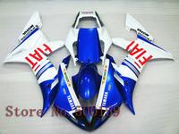 For Yamaha YZFR1 2002 2003 FIAT blue YZF1000 2002 2003 R1 YZF R1 02 03 YZF1000  ABS Fairing Set Plastic