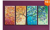 The Season Tree Painting ,Top Quality Modern Abstract Oil Painting On Canvas Wall Art ,Top Home Decoration JYJHZ026