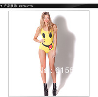 New Superior Quality Vintage Lovely Smiling Face Print Sexy One Piece Swim Suits For Women LT008