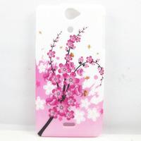 Pink Sakura Flower TPU GEL Back Case Cover Skin For SONY XPERIA V LT25i