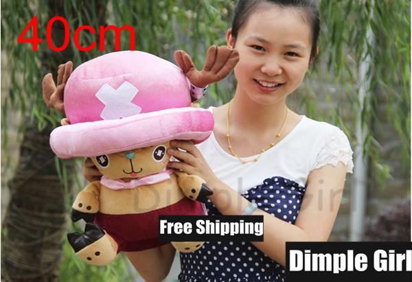 1pcs 40cm Kawaii Cute Japanese Anime ONE PIECE Tony Tony Chopper Plush Toy Soft Doll Japan Cartoon Girlfriend Gift Birthday(China (Mainland))